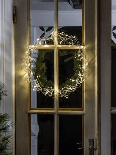 LED-es ablak dekoráció, koszorú formájú, ezüst, Konstsmide 2891-303 Ezüst