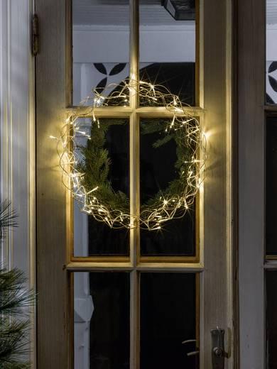 LED-es ablak dekoráció, koszorú formájú, arany, Konstsmide 2891-803