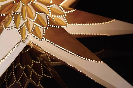Ablakdekoráció, Csillag, Energiatakarékos lámpa Konstsmide 2984-280 Fehér, Arany, Barna