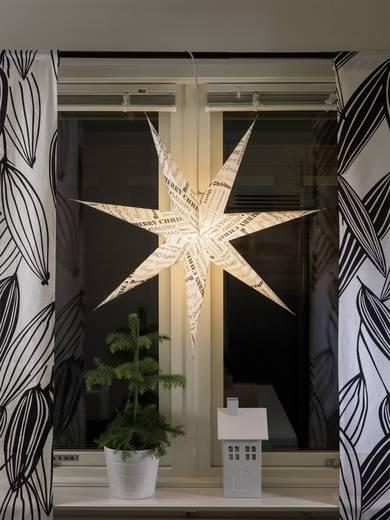 Világítós ablakdekoráció, csillag, 230V, fehér/fekete, Konstsmide 2985-270