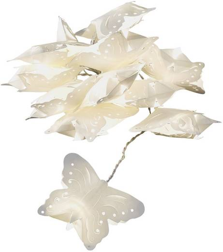 LED-es beltéri fényfüzér pillangókkal, melegfehér 498 cm Konstsmide 3193-103
