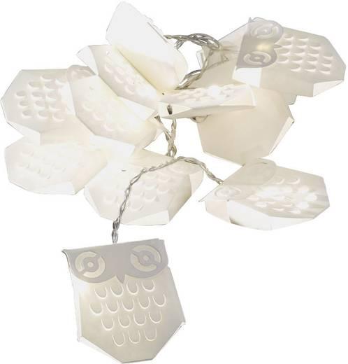 LED-es beltéri fényfüzér baglyokkal, melegfehér 498 cm Konstsmide 3194-103