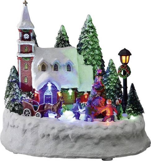 Asztaldísz, falu LED Konstsmide 3496-000 színes
