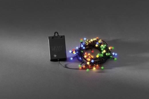 Kültéri LED-es fényfüzér, 40 LED színes 362 cm Konstsmide 3740-500