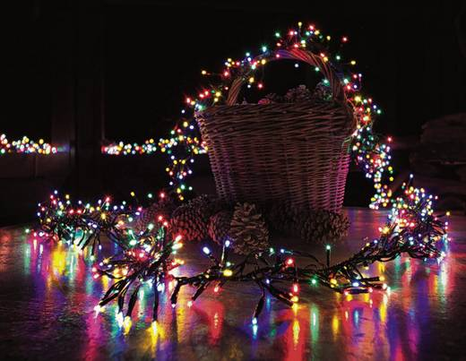 Kültéri LED-es fényfüzér, 760 LED színes 850 cm Konstsmide 3792-500