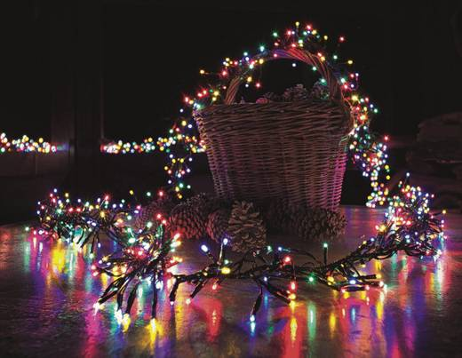 Kültéri LED-es fényfüzér, 960 LED színes 960 cm Konstsmide 3793-500