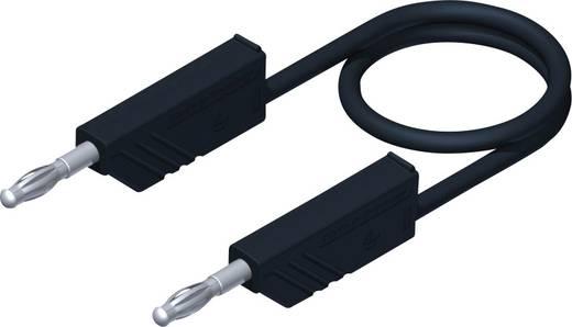 Mérőzsinór, mérővezeték 2db 4mm-es toldható banándugóval 1 mm² Szilikon, 0.50m fekete SKS Hirschmann CO MLN SIL 50/1