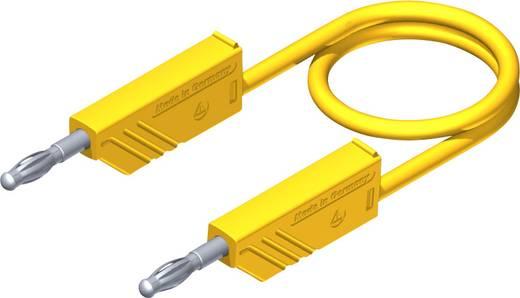 Mérőzsinór, mérővezeték 2db 4mm-es toldható banándugóval 2,5 mm² PVC, 1m sárga SKS Hirschmann CO MLN 100/2,5