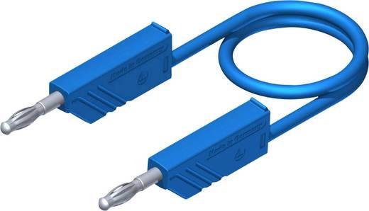 Mérőzsinór, mérővezeték 2db 4mm-es toldható banándugóval 1 mm² Szilikon, 1m kék SKS Hirschmann CO MLN SIL 100/1