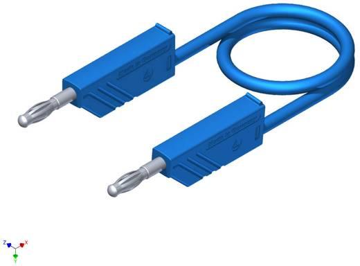 Mérőzsinór, mérővezeték 2db 4mm-es toldható banándugóval 2,5 mm² PVC, 1.50m kék SKS Hirschmann CO MLN 150/2,5