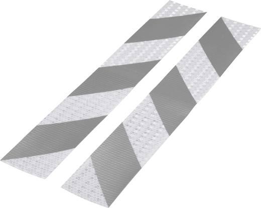 Figyelmeztető csík Tru Components RTS Ezüst, Szürke (H x Sz) 400 mm x 60 mm Tartalom: 2 db