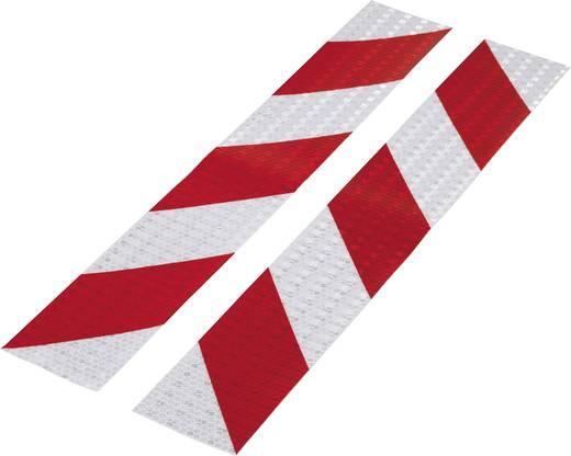Figyelmeztető csík Conrad Components RTS Piros, Ezüst (H x Sz) 400 mm x 60 mm Tartalom: 2 db