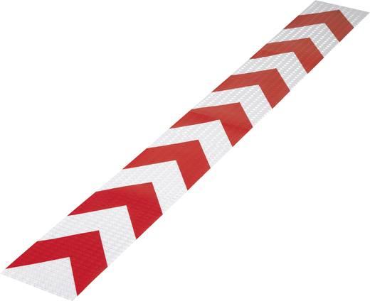Fényvisszaverő figyelmeztető csík, piros, 1 m x 115 mm, 1 db