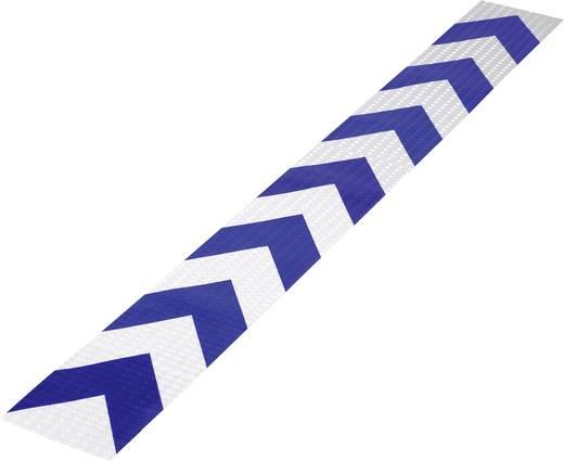 Fényvisszaverő figyelmeztető csík, kék/ezüst, 1 m x 115 mm, 1 db