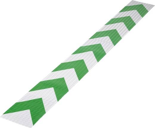 Fényvisszaverő figyelmeztető csík, zöld/ezüst, 1 m x 115 mm, 1 db