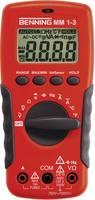 Digitális multiméter, mérőműszer, érintés nélküli feszültségvizsgálattal 10A AC/DC Benning MM 1-3 Benning