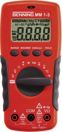 Digitális multiméter, mérőműszer, érintés nélküli feszültségvizsgálattal 10A AC/DC Benning MM 1-3