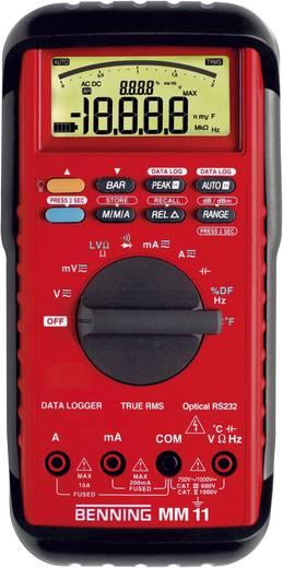 Digitális multiméter, True RMS mérőműszer adattároló funkcióval 10A AC/DC Benning MM 11