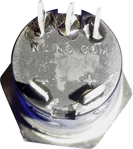 Beépíthető csengőgomb 24V/1A 22mm, nemesacél/fehér, 1 részes, renkforce 1227541
