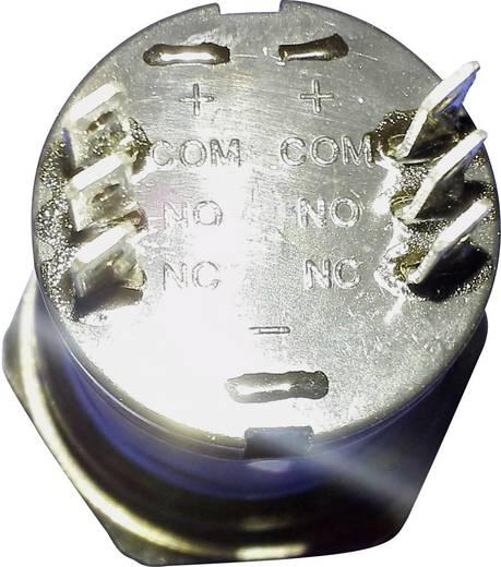 Beépíthető csengőgomb 24V/1A 28mm, nemesacél, 1 részes, renkforce 1227543