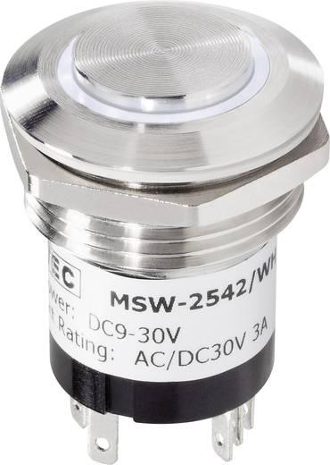 Beépíthető csengőgomb 24V/1A 28mm, nemesacél/fehér, 1 részes, renkforce 1227546
