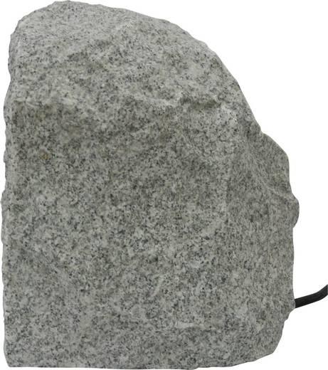 Kerti hálózati elosztó, dekorációs kő formájú 4 részes aljzattal Gránitszürke Heitronic 36070