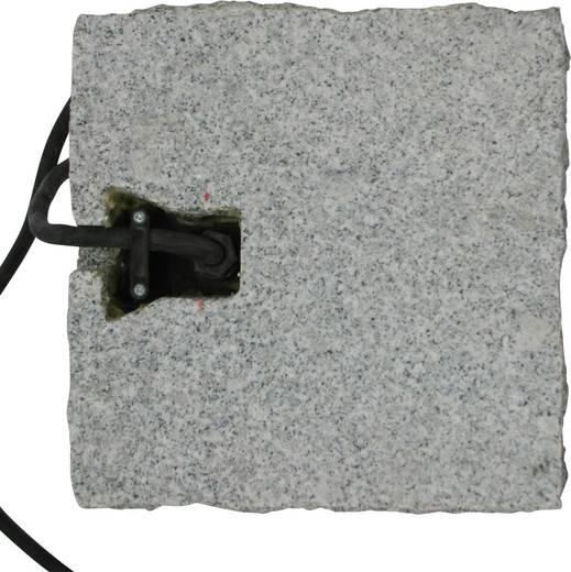 Kerti hálózati elosztó, dekorációs kő formájú 4 részes aljzattal Gránitszürke Heitronic 36071