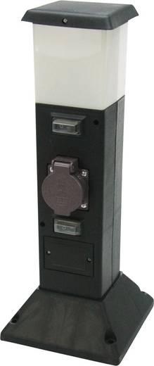 Kerti hálózati elosztó oszlop, 2-es aljzattal, LED-es világítással Heitronic 35112