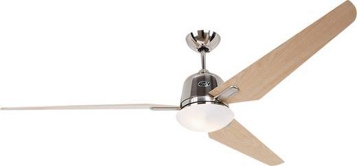 Mennyezeti ventilátor CasaFan Eco Aviatos 162 BN-AH (Ø) 162 cm Lapátszín: Króm (kefélt) Házszín: Juhar