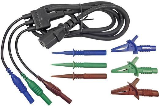 Erősáramú mérőzsinór átalakító, mérőfejekkel [3db 4 mm-es banándugó - C13 tápcsatlakozó] 1.5 m Cliff CIH29923