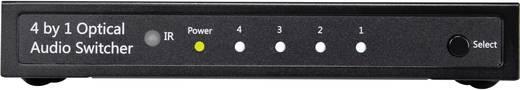 Toslink switch távirányítóval, 4x1, SpeaKa Professional