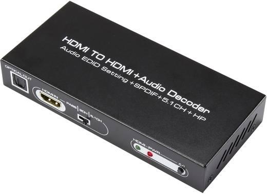 HDMI audio extraktor Toslinkkel és 6 csatornás (5.1) RCA kimenettel