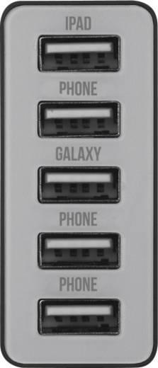 USB-s hálózati töltő, 5 USB aljzattal, 5 x 2100 mA, Trust 20014