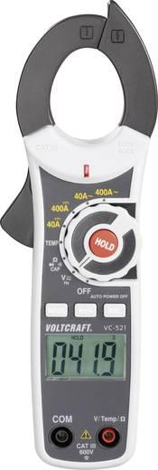 AC/DC árammérő lakatfogó műszer, multiméter CAT III 600 V, 400A AC/DC Voltcraft VC-521