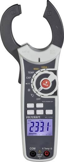 AC váltóáramú lakatfogó műszer, True RMS multiméter CAT III 600 V, 1000 A/AC Voltcraft VC-530