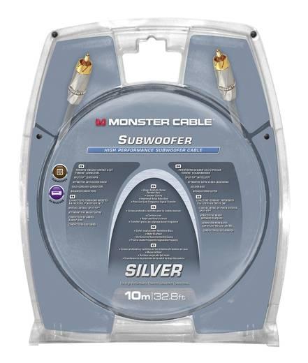 RCA audio csatlakozókábel, 1 x RCA dugó - 1x RCA dugó 10.00 m, szürke, aranyozott érintkező, Monster