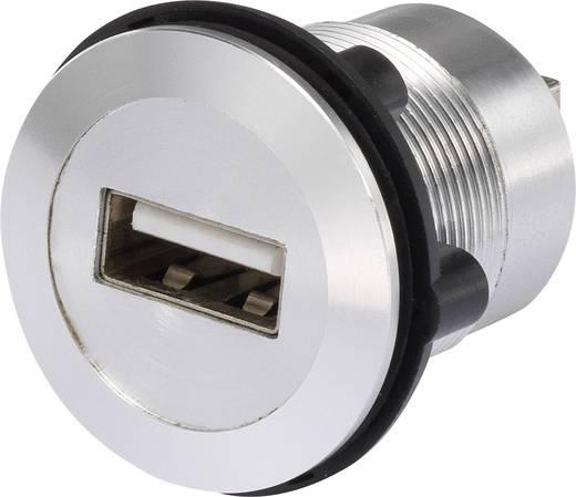 Beépíthető USB A - USB B 2.0 aljzat, ezüst Conrad USB-02
