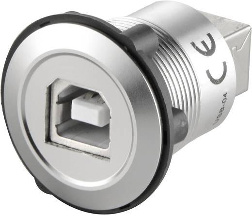 Beépíthető USB B - USB B 2.0 aljzat, ezüst Conrad USB-04