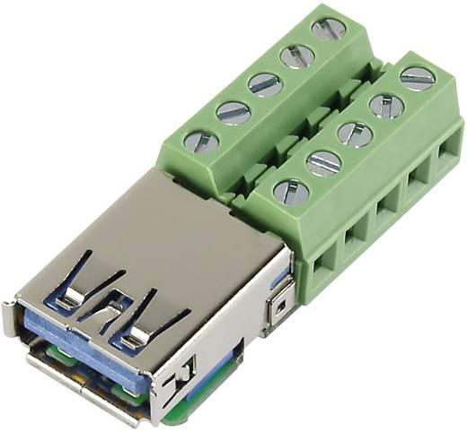 Szerelhető USB 3.0 csatlakozó, csavarozható sorkapcsos aljzattal Conrad USB-AFT-2