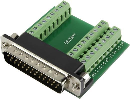 D-SUB csatlakozó 25 pólusú beépíthető, szerelhető sorkapcsos aljzattal Conrad DSUB25M-27TB-3