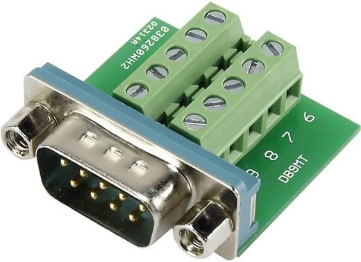 D-SUB dugó 90 °, pólusszám: 9 Csavaros csatlakozó Tru Components DSUB09M-10TB-2