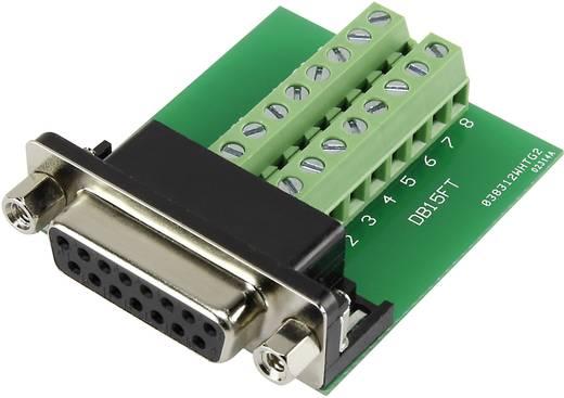 D-SUB csatlakozó 15 pólusú beépíthető, szerelhető sorkapcsos aljzattal Conrad DSUB15F-16TB-2