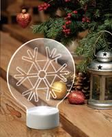 LED-es dekoráció, hópehely, hidegfehér, elemes, Polarlite (LBA-51-008) Polarlite