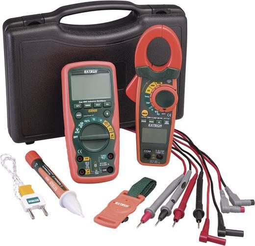 Digitális multiméter, True RMS mérőműszer készlet, AC/DC lakatfogóval és érintés nélküli fázisceruzával Extech EX730 Kit