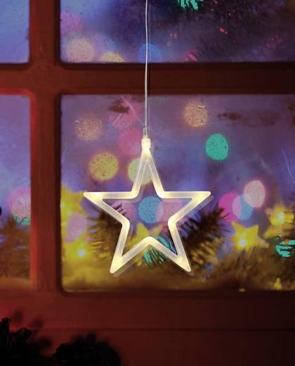 LED-es ablakdekoráció, csillag, elemes, Polarlite LBA-50-012