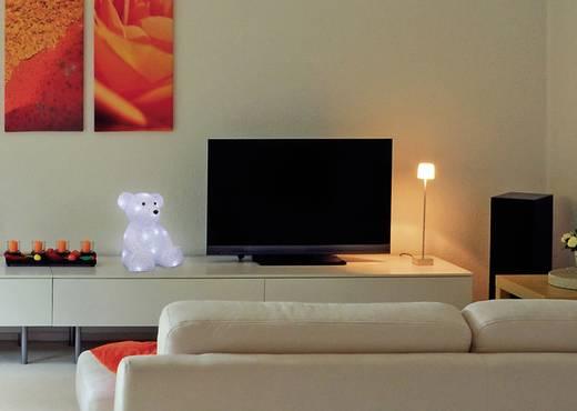 LED-es karácsonyi akril figura, jegesmedve, Polarlite LBA-52-004