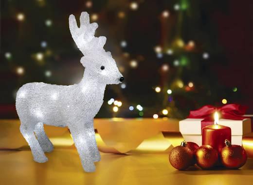 LED-es karácsonyi akril figura, rénszarvas, Polarlite LBA-52-005