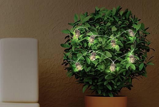 LED-es akril figura és fényfüzér, bagoly, elemes, Polarlite LBA-52-003 LBA-20-004