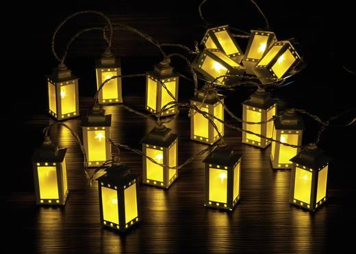 LED-es beltéri fényfüzér, lámpások, 6m 16 LED, melegfehér, Polarlite WS-131017909 16LAP