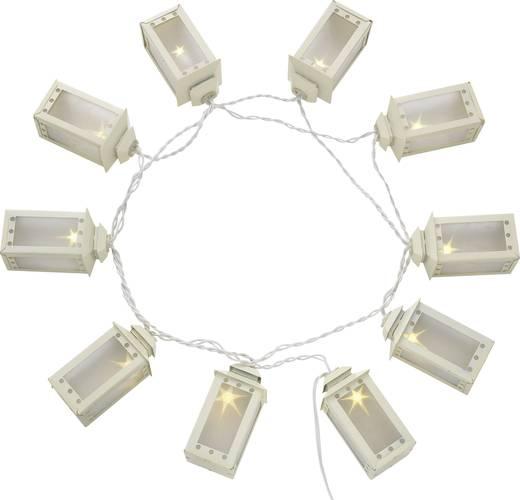 LED-es beltéri fényfüzér, Lámpások, elemes, 10 LED, 185 cm, Polarlite LBA-03-005
